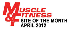 Muscle and Fitness Website of the Month