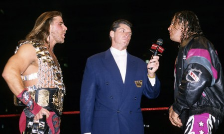 Bret Hart Shawn Michaels Fight
