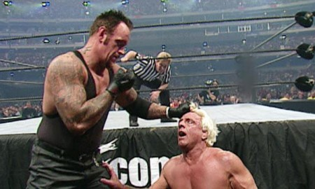 Ric Flair Undertaker WrestleMania 18