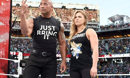 Rock and Ronda Rousey