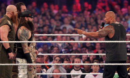 The Rock Bray Wyatt WrestleMania 32