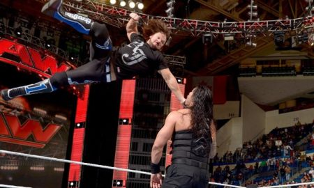 Aj Styles Roman Reigns WWE RAW