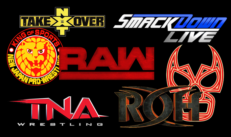 Wrestling Logo Collage