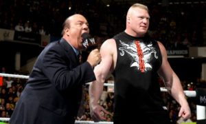 Paul Heyman and Brock Lesnar