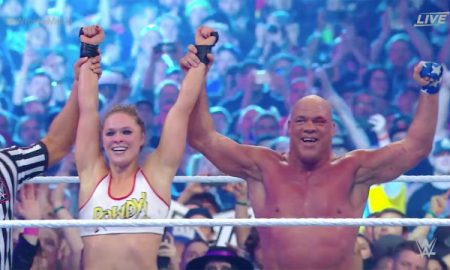 Kurt Angle and Ronda Rousey